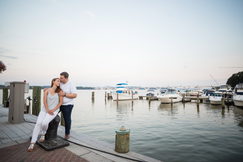 Zachary + Michelle Engaged | Old Town Alexandria