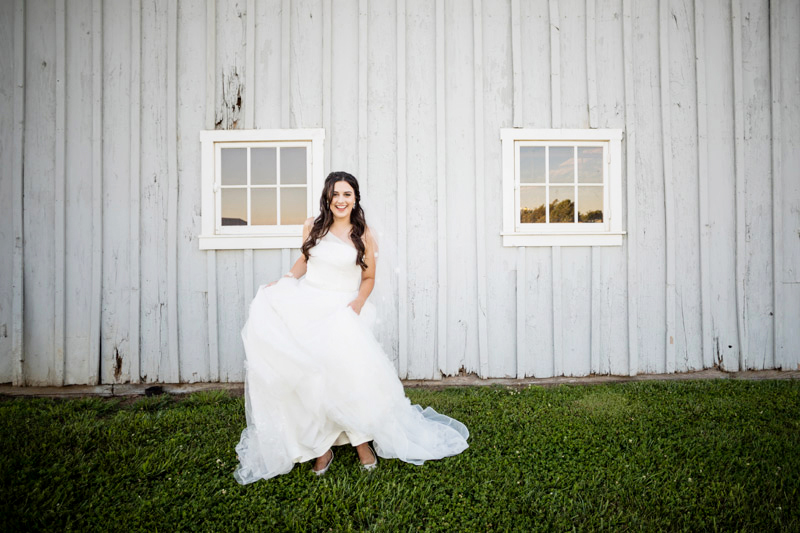 Sunset Bridal Portrait | The Middleburg Barn at Fox Chase Farm