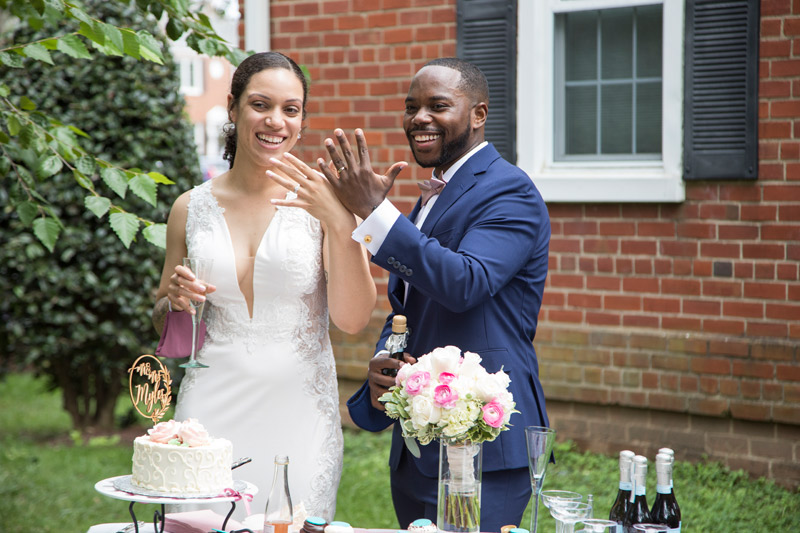Gabby + Denzel Wedding | The Hendry House, Fort CF Smith in Arlington, VA